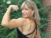 Donna Hawley hits the bodybuilding shots, showing ...