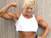 Debi Laszewski in top contest shape, she's blonde,...