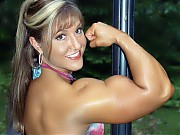Gina Davis is 33 years of age in contest shape, sh...
