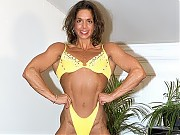 Linda McLaughlin deep cut abs, detailed back and v...