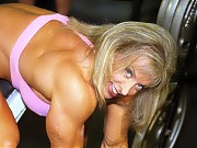 Diane Solomons pushing impressive weight in the gy...