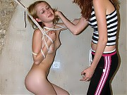 Young busty gymnast gets tied and punished