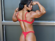 This exotic strong-woman Dawn Riehl has a unique c...