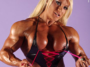 Blonde babe Lisa Cross is one hell of a muscular b...